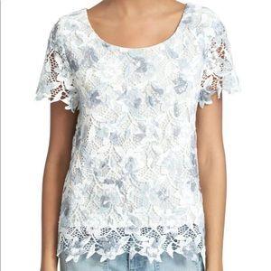 Joie Devine B Short Sleeve Lace Top